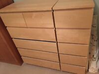 Chest of Drawers x2