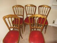 Four vintage dining banqueting chairs