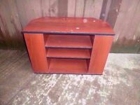 Wood tv Stand with Dvd Storage Delivery Available