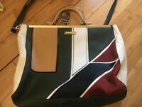 River island green red handbag