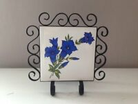 Wrought Iron / Enamel napkin holder