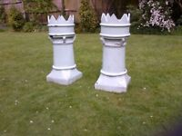 Chimney pot plant pots, beautiful with flowers in, paint any colour to match house, £15 each.