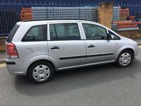 Vauxhall zafira 1.6 7 seater in silver e/w e/m air con CD player very reliable 60000 miles any trial