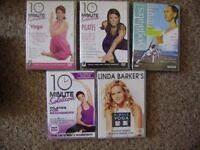 DVD, Fitness DVDs, 5 DVDs for £5