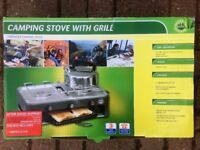 Two Burner Camping Stove with Grill