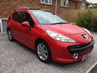 Peugeot 207s estate 2008 registration great condition