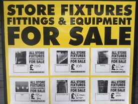 QUALITY USED SHOP FITTINGS/FIXTURES - STORE CLOSING DOWN - TUNBRIDGE WELLS