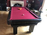 English Rustic 7' Pool Table, as new condition