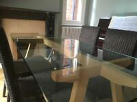 Habitat Dublin 6 seater dining table £90- collection only