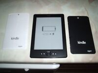 KINDLE BOOK TABLET, AS NEW.