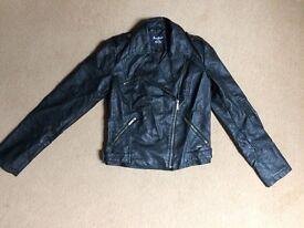 Beautiful faux leather biker jacket SIZE M