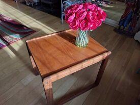 Retro teak track side table for sale