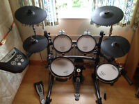 Roland TD-6V kit ALL MESH-HEADS w/ additional cymbal and stand, midi cable & ps3 adaptor