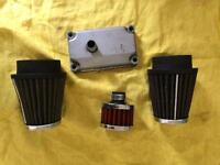 XS250 air filters and breather filter