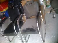 Chairs - Pair of Black Vinyl and Chrome Medical Chairs