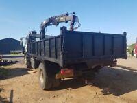 Volvo fl6 220 tipper grab lorry 18 ton