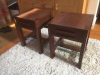 Pair of M&S Sonama Dark Oak Lamp/Bedside Tables