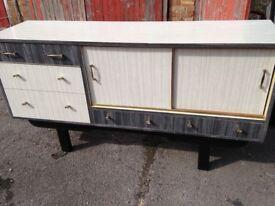 Vintage grey formica sideboard