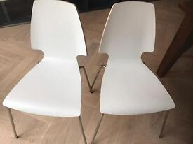 IKEA white chairs - pair of 2
