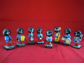 VINTAGE 1970s ROBERTSON JAM HAND PAINTED BAND FIGURES