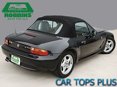 96 02 bmw z3 convertible top oem blacktwillfast cloth wcables rain bmw oem 96 02 z3 seat
