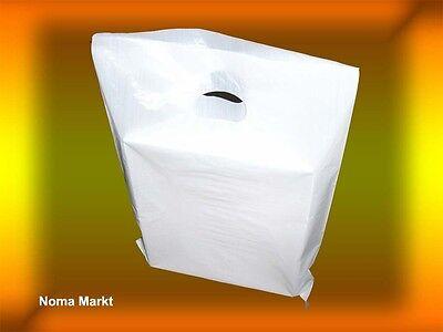 100 Stck.Tragetaschen 40x50 cm weiß 23my Plastiktüten  Tüten Beutel NEU