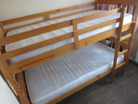 bunk beds pine clean good condition