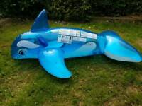 Large inflatable dolphin for the beach
