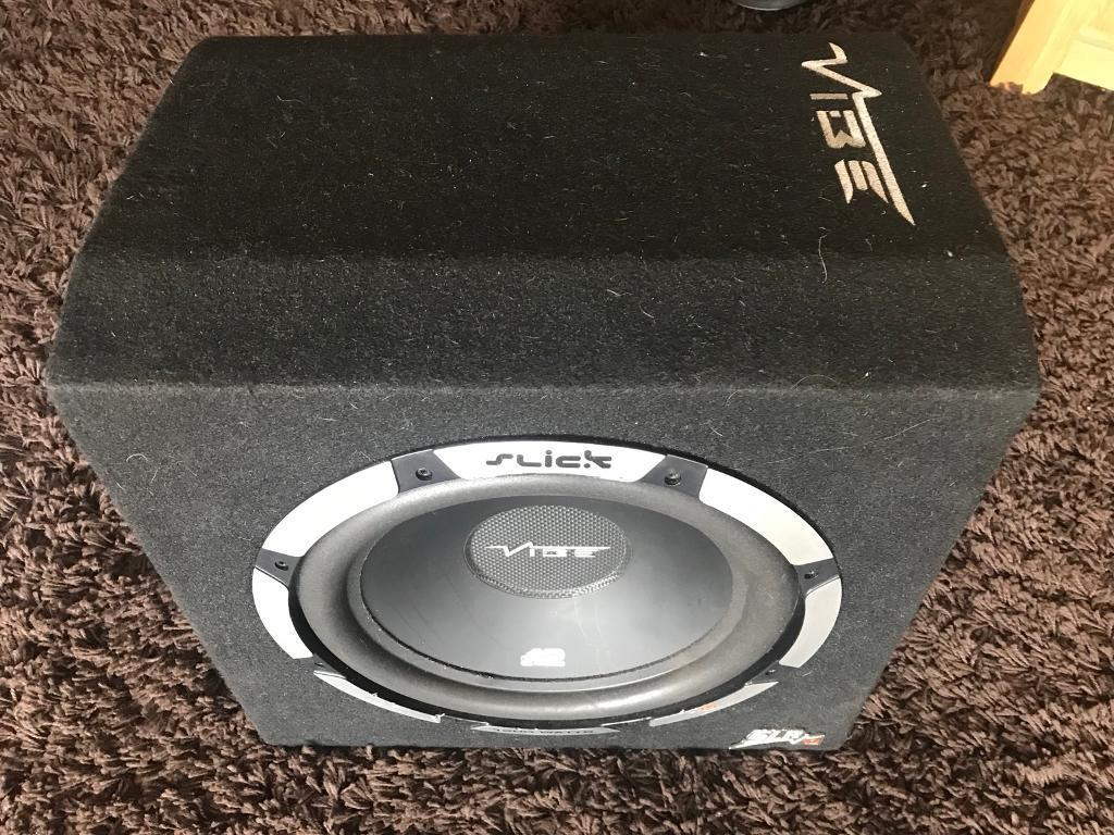 Vibe Space 15 1200 Watt Rms Stereo Kit 8 Gauge Amplifier Wiring 1500w Audio Images 12 Inch Slick Subwoofer With Built In Amp Watts
