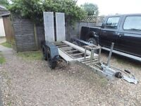 TRAILER WITH DROP DOWN RAMPS TWIN AXLE