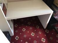 White IKEA Kallax Desk