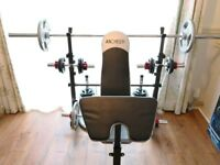 Olympic weight lifting body building set up