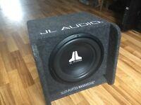 "Single 12"" JL Audio Subwoofer Enclosure - Bass Wedge"