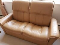 EKORNES Stressless Sofa 2 Seater Recliner High Back Paloma Leather, Sand Camel - Immaculate