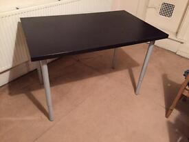 Sturdy Black Wooden Desk / Table 120 x 75