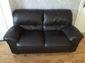 Brown Leather 3+2 sofa. Good condition would do someone starting off. Needs gone ASAP.