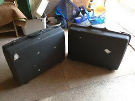 2 x Black Hard Side Suit Cases.