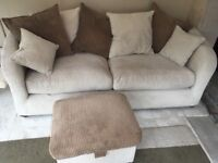 3 seater sofa and storage footstool 150ono