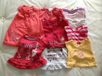 Bundle girls: 3-6months clothes: 3 dresses 2 cardigans, 6 T-shirts