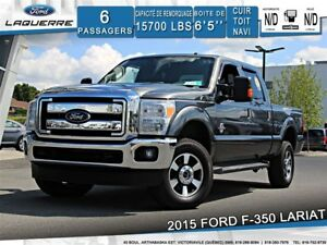 2015 Ford F-350 LARIAT**DIESEL*4X4*6 PLACES*CUIR*TOIT*NAVI*CAM**