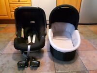 Britax Car Seat & Oyster Carry Cot