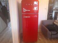 Smeg red fridge/freezer 1 year old