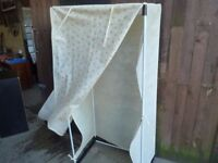 Fabric and Plastic Framed wardrobe Delivery Available £7