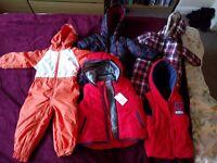 Bundle: Regatta snow suit plus 2 additional snow suits and 2 bodywarmers 18 mths - 3 yrs