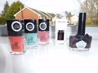 Bundle of nail varnish / polish.. elf, nails inc, and Ciate