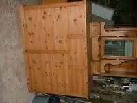 9 Drawer Pine Unit with Mirror