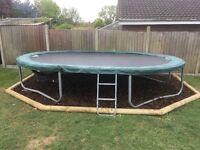Large oval shaped jump king trampoline 10x15 feet