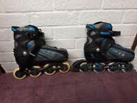 SFR Vortex Inline Skates Roller Blades Size 37-40 (UK 4 - 6.5) - Used but in good condition