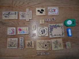 Assortment of Rubber Stamps