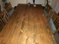 Dining Room Furniture (dining table + 6 chairs, sideboard and glazed display cabinet)